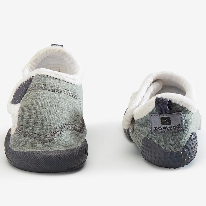 Gymschoenen voor kleutergym 550 Babylight gevoerd grijs/wit