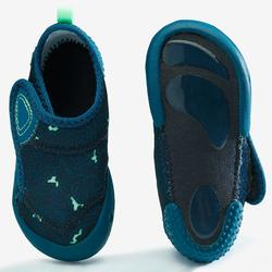 嬰幼兒軟鞋580 Baby Light - 藍色印花