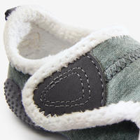 550 Baby Light Lined Booties - Grey/White