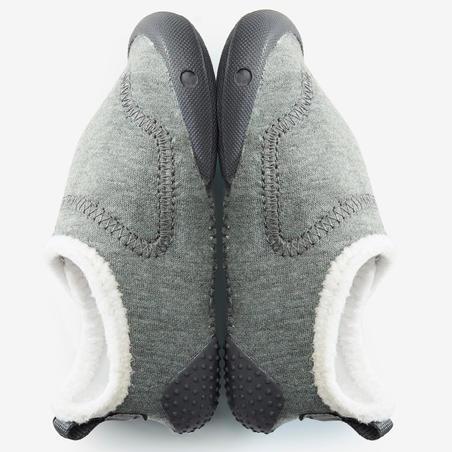 Chaussons Bébé Léger 550 doublés gris/blanc