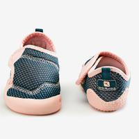 Tenis Primeros pasos 580 BABYLIGHT TRANSPIRABLES AZUL/ROSA