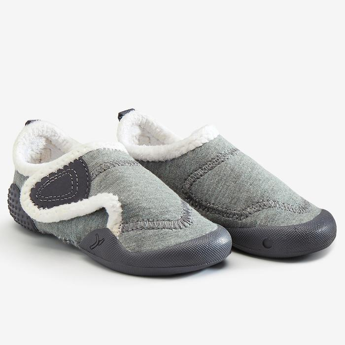Chaussons Baby light chaud gris/blanc