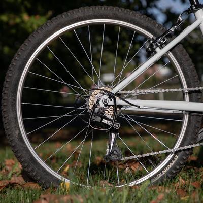 Rockrider ST 100 Kids' 24-Inch 9-12 Years Mountain Bike - White