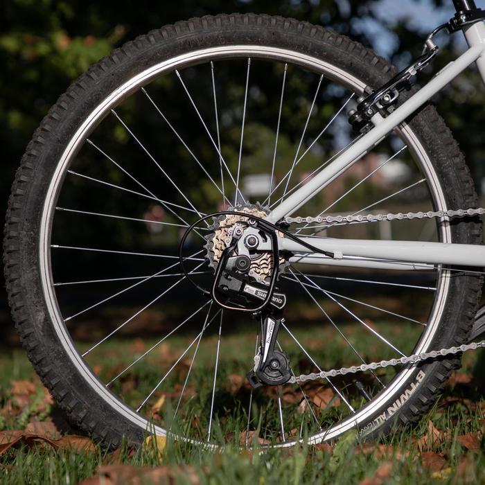 Mountainbike voor kinderen 9-12 jaar Rockrider ST 100 24 inch wit