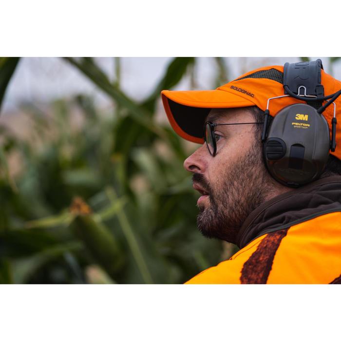 Gorra Caza Solognac Bgp Light Ultraligera Transpirable Naranja Fluo
