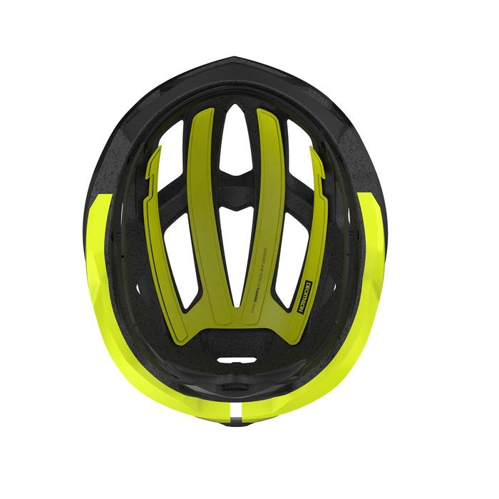 Fietshelm Roadr zwart/geel fluo