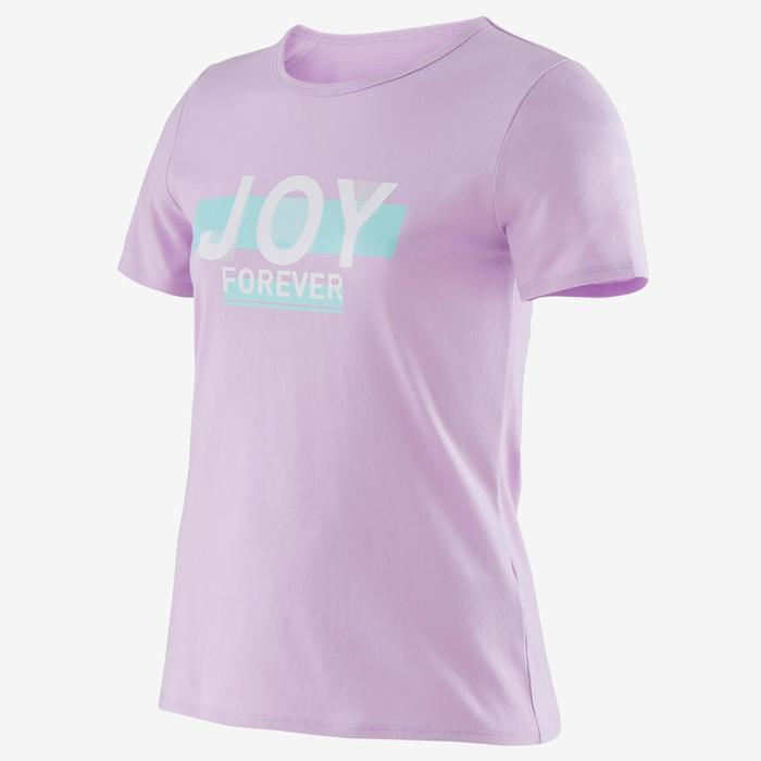 兒童女童短袖T恤100 - 紫色印花