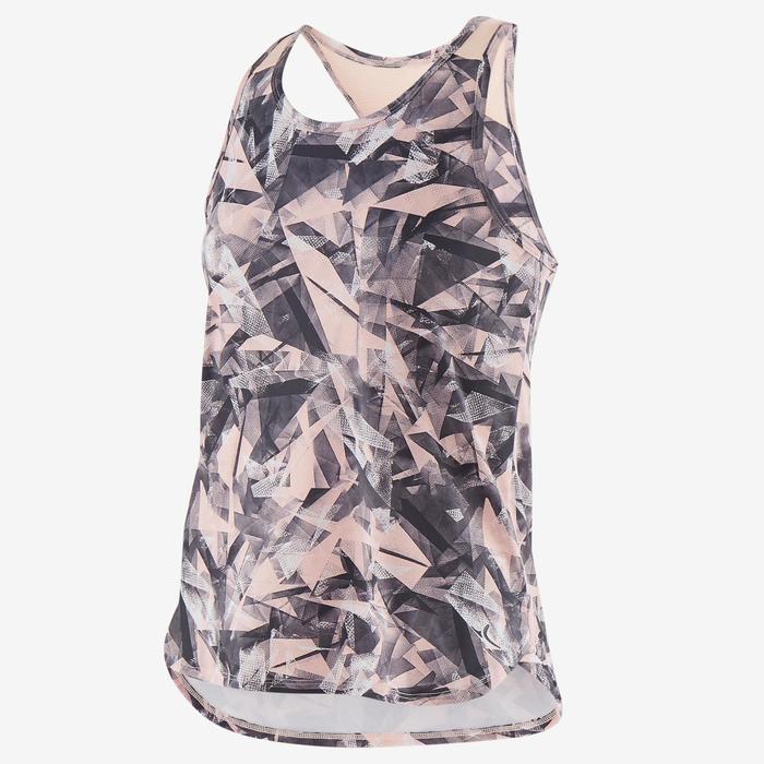 Camiseta sin mangas sintética transpirable S500 niña GIMNASIA INFANTIL rosa est