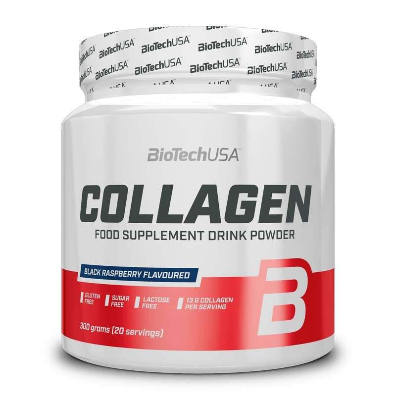 FEHÉRJÉK ÉS ÉTRENDKIEGÉSZÍTŐK Táplálékkiegészítő, sporttáplálkozás - Collagen 300 g BIOTECHUSA - Multisport kiegészítők