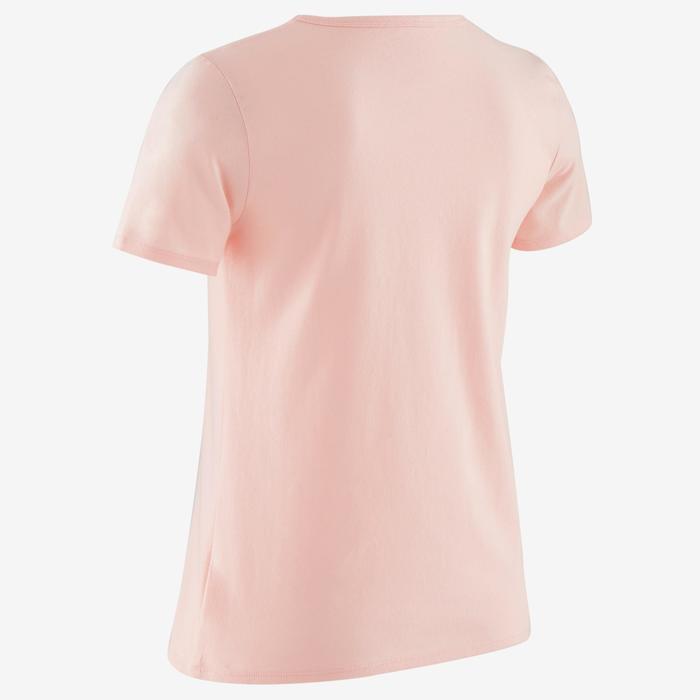 T-Shirt manches courtes 100 fille GYM ENFANT rose imprimé