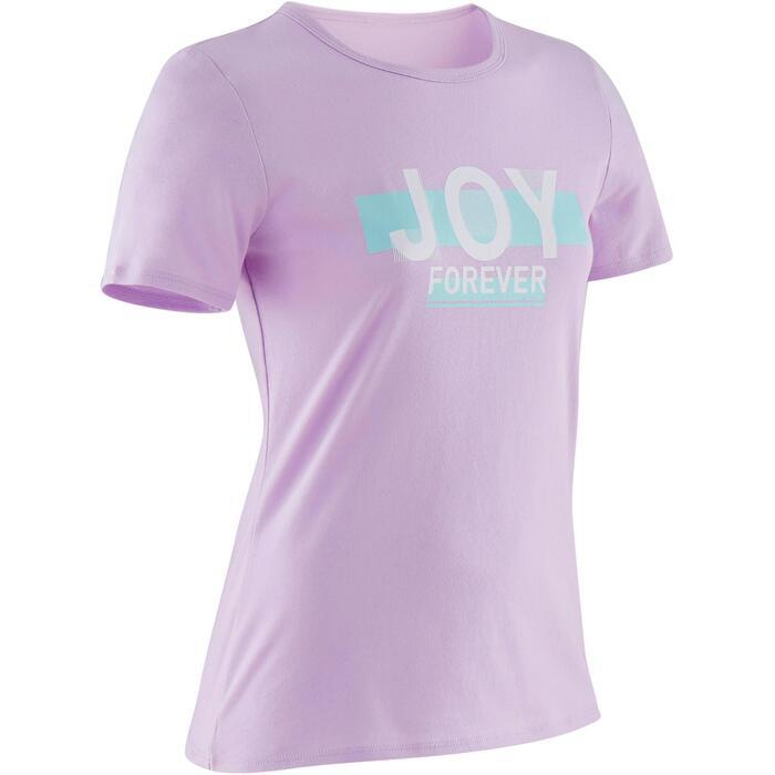 T-Shirt manches courtes 100 fille GYM ENFANT violet imprimé