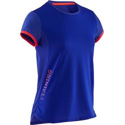 女童透氣健身T恤S900紫色 - 紫色