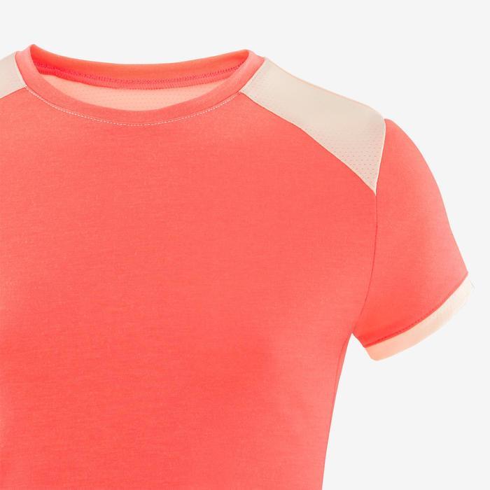 T-shirt manches courtes respirant 500 fille GYM ENFANT rose fluo