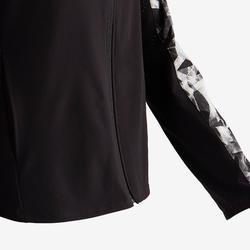 Licht en ademend vest voor gym meisjes W500 zwart/print