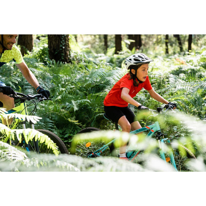 100 Kids' Short Sleeve Cycling Jersey - Red