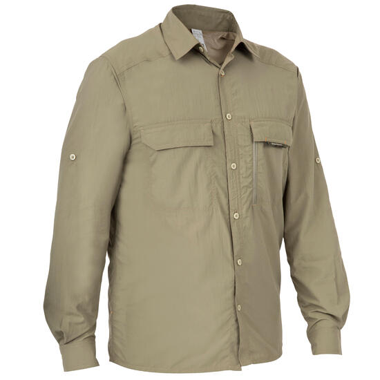 Ademend overhemd 500 groen - 175426
