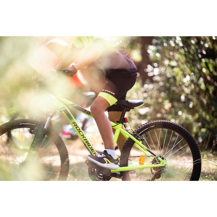 Cuissard sans bretelle vélo enfant 500 noir/jaune fluo