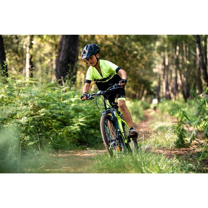 Maillot manches courtes vélo enfant 500 Jaune