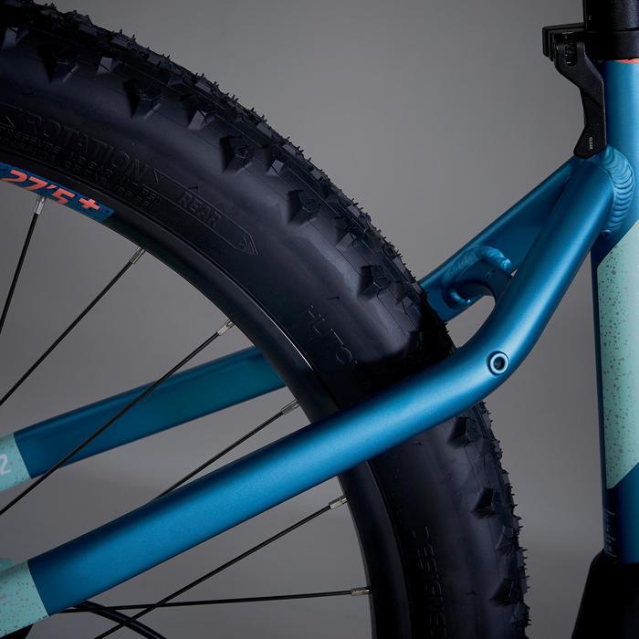 """Bicicleta de Montaña Eléctrica ROCKRIDER e-ST 900 Mujer 27'5"""" Turquesa"""