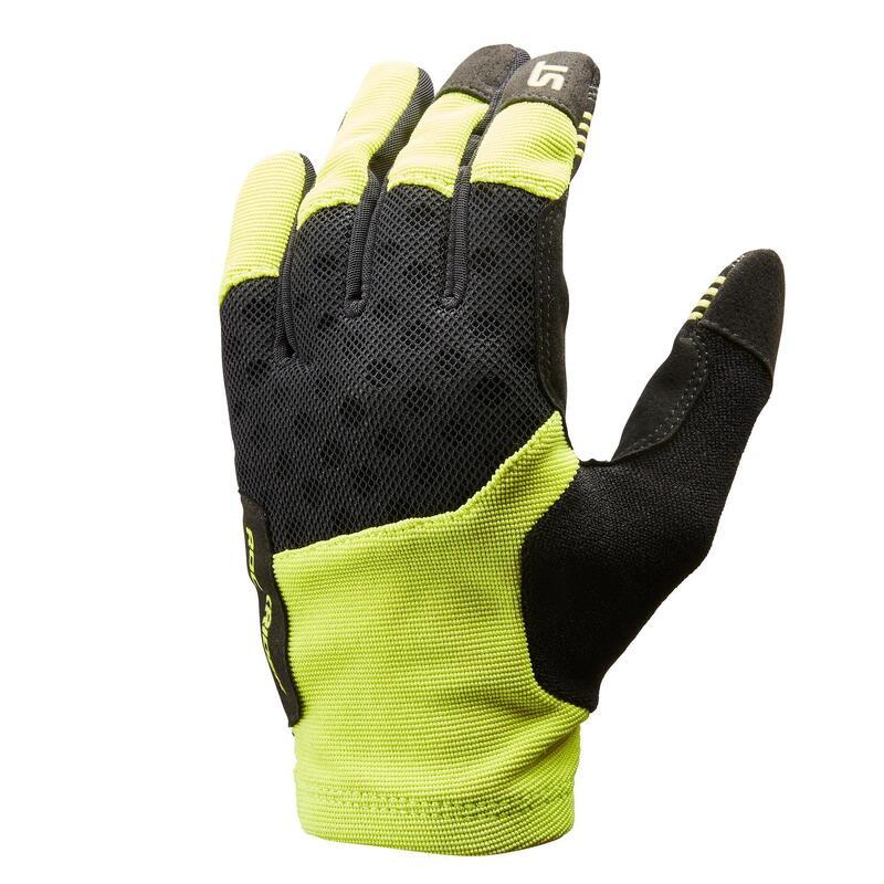 Cyklistické rukavice ST500 na horské kolo zelené