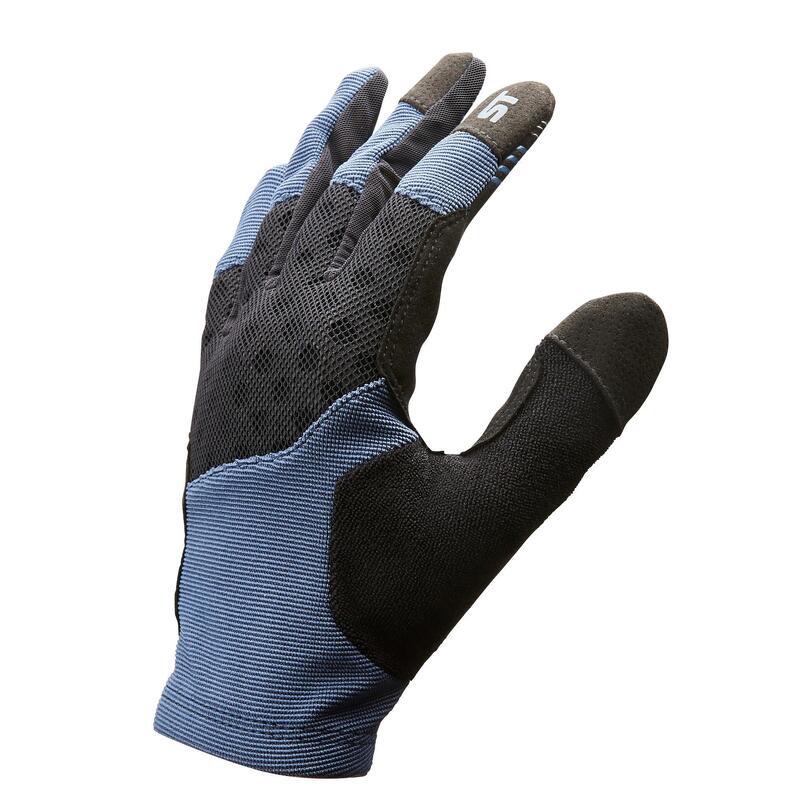 Cyklistické rukavice ST500 na horské kolo modré
