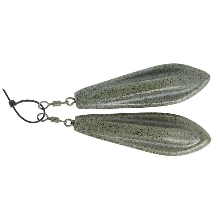 Plombs pêche de la carpe Plombs Trilobe 100g (x2)