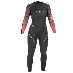 Neopreen dameswetsuit voor zwemmen in open water OWS 4/2 mm