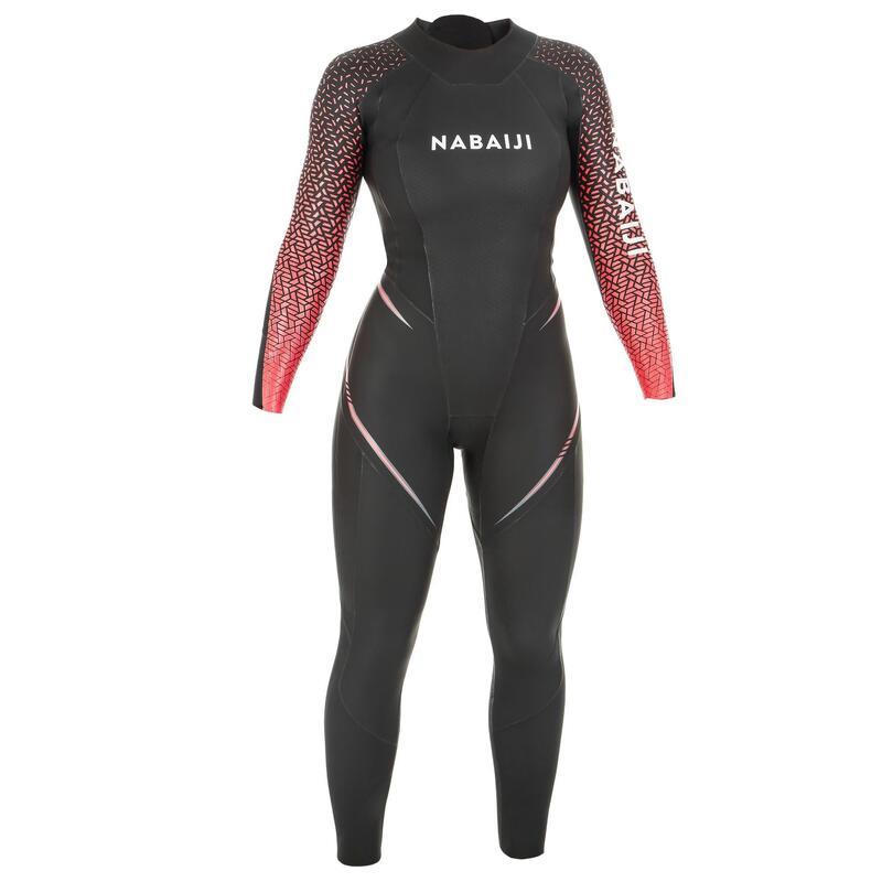 Neopreen dameswetsuit voor zwemmen in open water OWS 4/2 mm