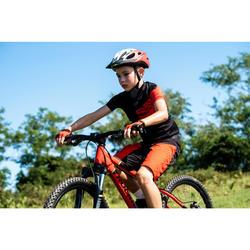 Mountainbikeshort voor kinderen 500 zwart/rood