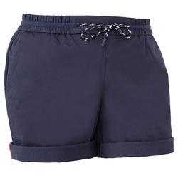 Short voor zeilen dames SAILING 100 marineblauw