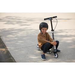 Scooter Roller MID 5 mit Federung und Lenkerbremse Waschbärmotiv