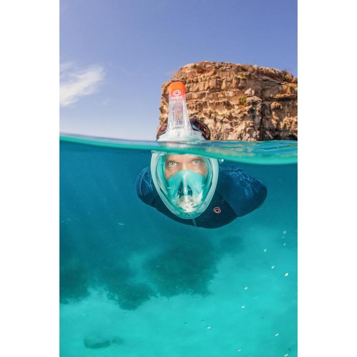 Máscara de Snorkeling à superfície Easybreath 500 Turquesa Claro