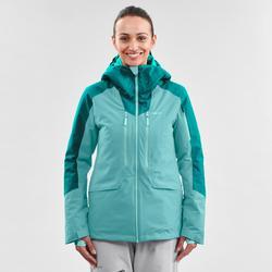 Abrigo Chaqueta esquí y nieve wed'ze mujer FR500 Verde