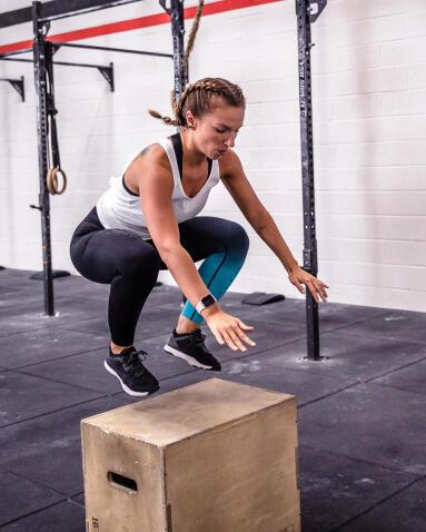 Exercice golf - box jump - musculation- decathlon