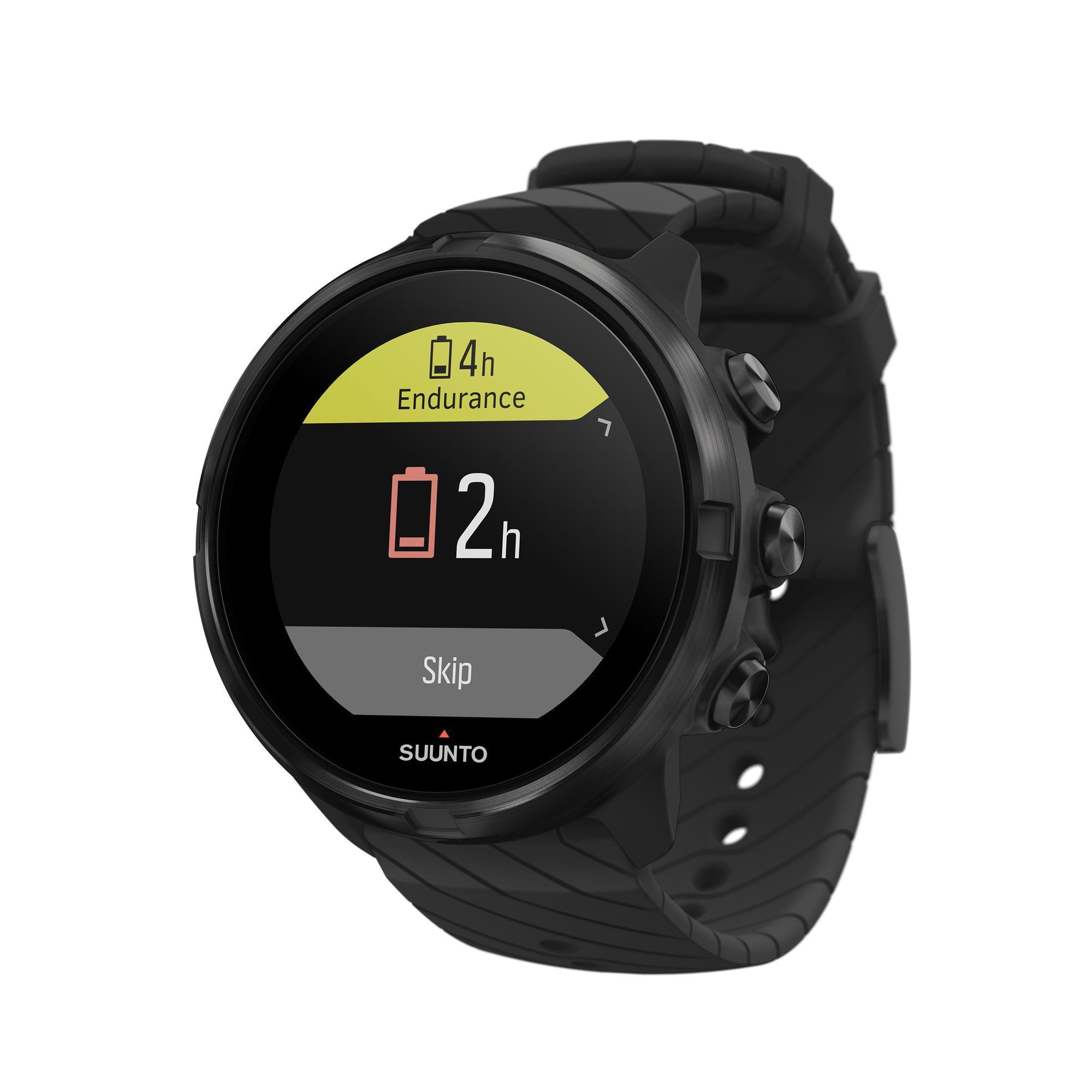 Suunto Gps-horloge met hartslagmeter multisport Suunto 9 All Black