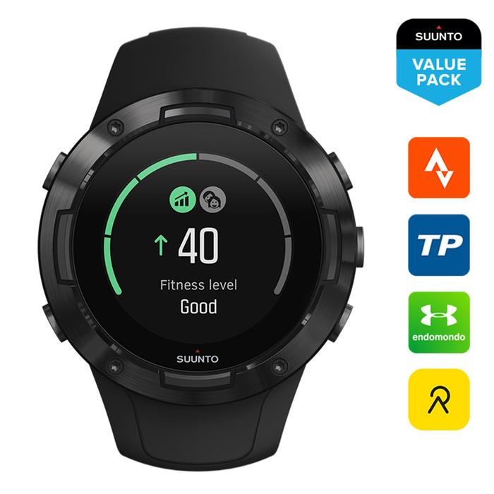 Montre GPS cardio multisport Suunto 5 All Black