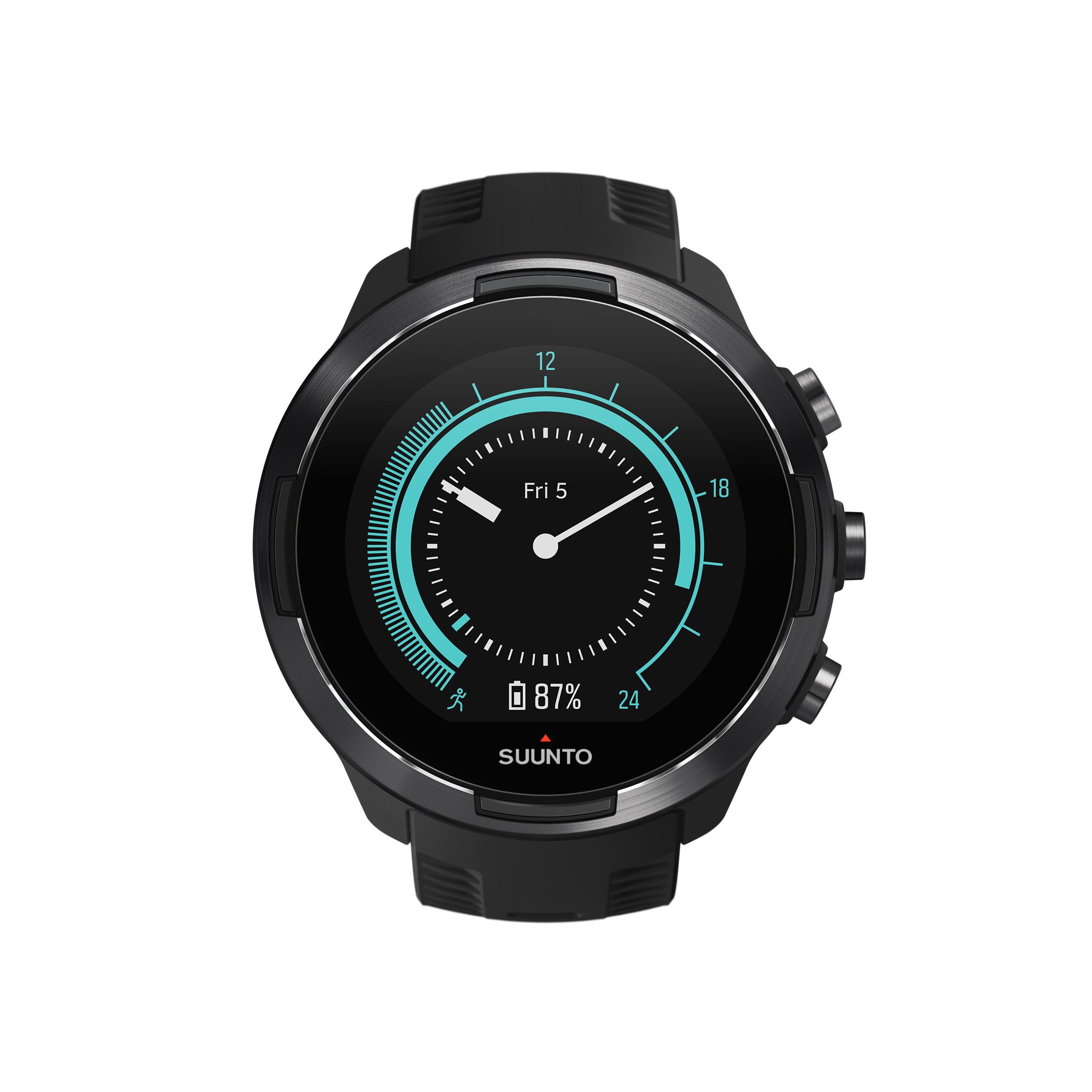 Suunto Gps-horloge met hartslagmeter multisport Suunto 9 Baro Black