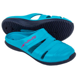 Badslippers dames Clog 100 blauw luxury