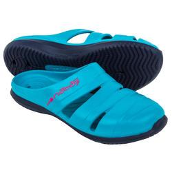 Waterclogs voor zwembad dames 100 blauw luxury