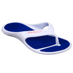 Chanclas Piscina Tonga 500 Mujer Blanco Azul