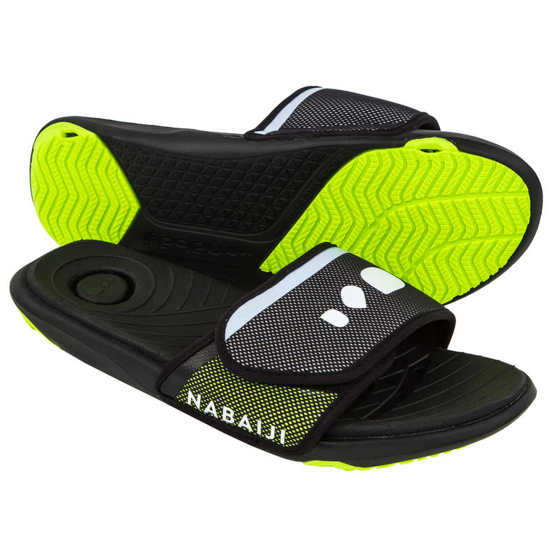 POOL SHOES Swimming - Men's Pool Sandals - Black NABAIJI - Swimming