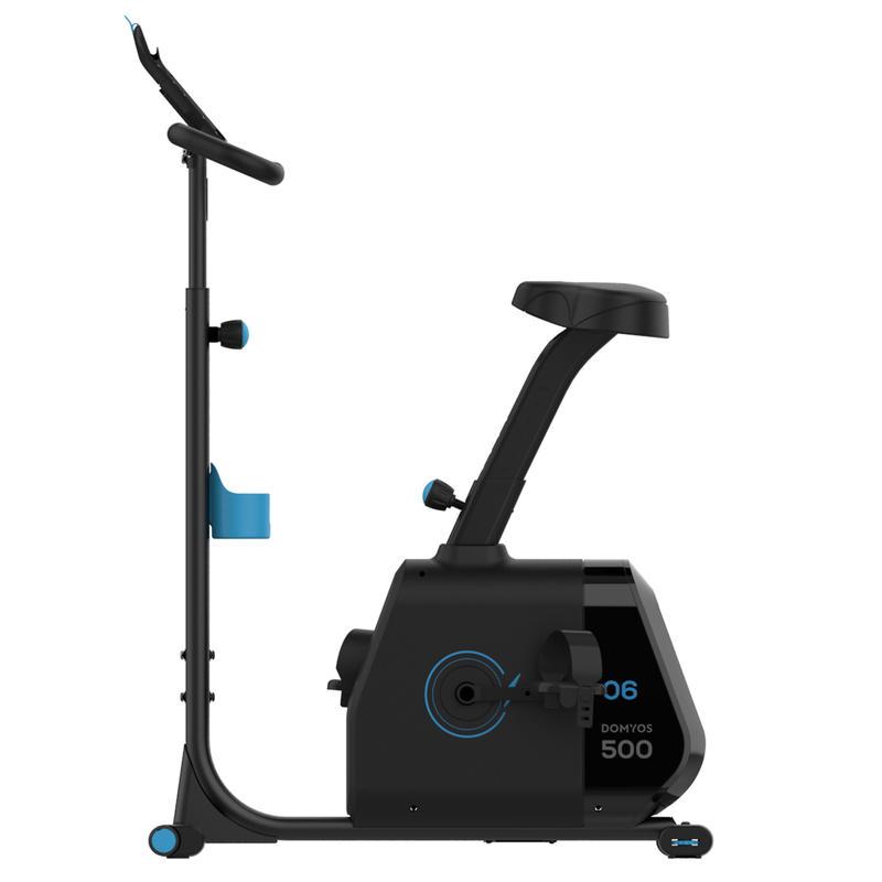 Bicicleta estática autoalimentada Bike 500 compatible Domyos Econnected