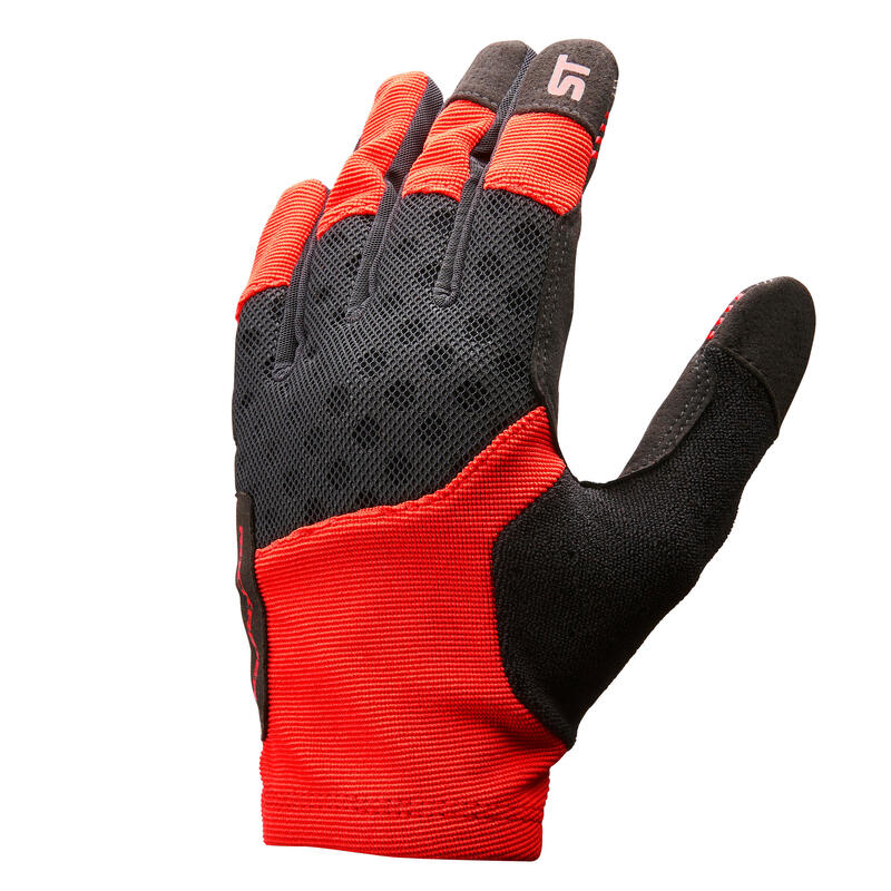 Cyklistické rukavice ST500 na horské kolo červené