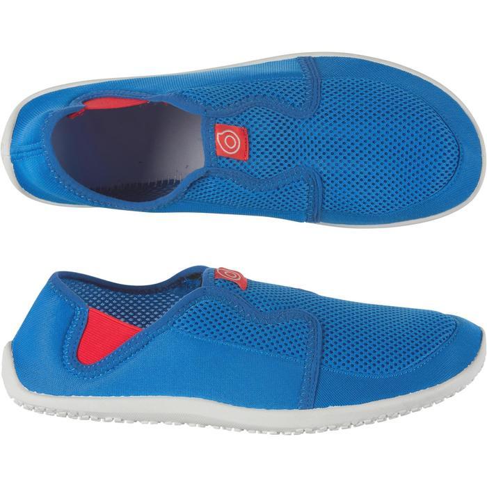 Waterschoenen Aquashoes 120 voor volwassenen blauw/rood