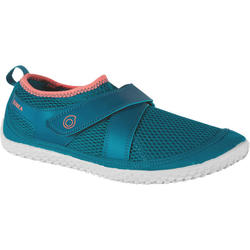 成人款浮潛蛙鞋SNK 500-藍色/粉紅色