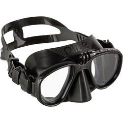 Masque de chasse sous-marine en apnée Alien noir action CAM