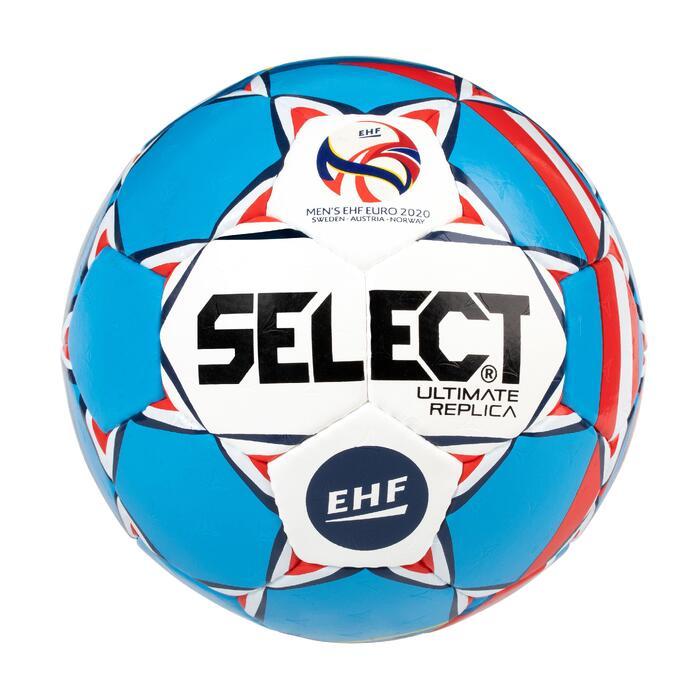 Handball Replica EM 2020 Größe 2 weiß/blau