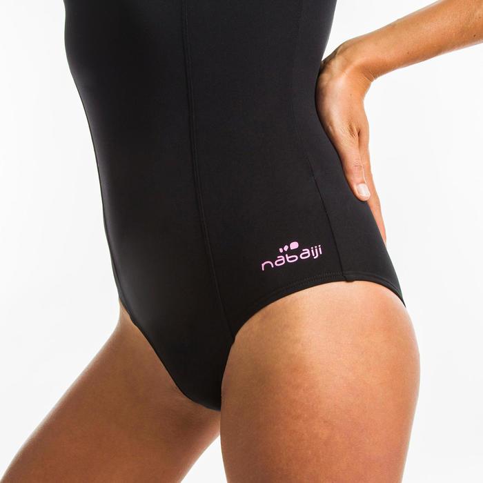 Women's one-piece Aquafitness swimsuit Lena - black mem