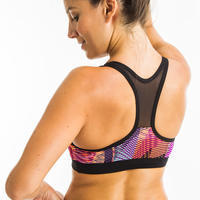 Women's Aquafitness Swim Top Lou vib pink