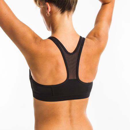 Women's Aquafitness Swimsuit Top Lou - Black Mem